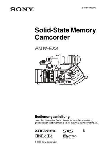 Sony PMW-EX3 German Manual - cinegrell