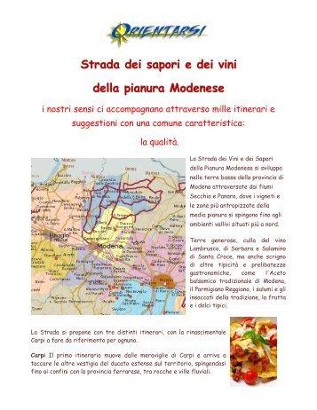Strada dei sapori e dei vini della pianura Modenese - Orientarsi