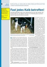 Fast jedes Kalb betroffen! - Deutsche Vilomix Tierernährung GmbH