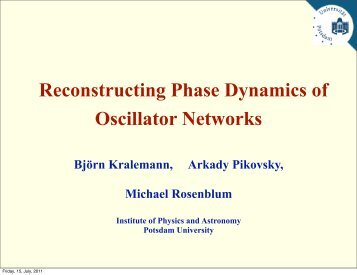 Reconstructing Phase Dynamics of Oscillator Networks - Physics at ...