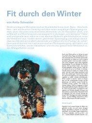 Beitrag aus Schweizerischen Hundemagazing - csbp.ch