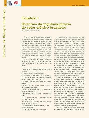 Capítulo I Histórico da regulamentação do setor elétrico brasileiro