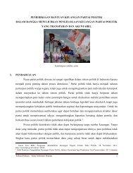 Pemeriksaan Bantuan Keuangan Partai Politik - Website Jaringan ...