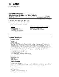 msds(base coat) - Bonded Materials Company