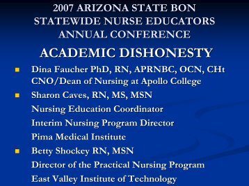 Innovative Cheating techniques by Dr. Dina Faucher - Arizona State ...