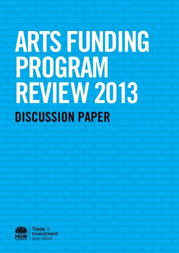 AFP Review Discussion Paper - Arts NSW - NSW Government