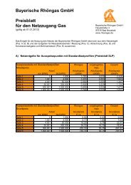 Preisblatt, gültig ab 01.01.2013 - Bayerische Rhöngas GmbH
