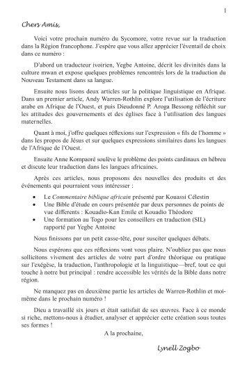 Le Sycomore 3/1 - UBS Translations
