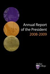 Annual Report of the President 2008-2009 - Molloy College