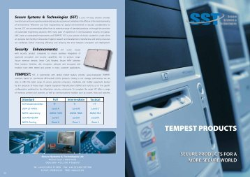 TEMPEST Products Overview - SST