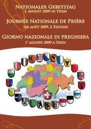 Nationaler Gebetstag Journée Nationale de Prière Giorno nazionale ...
