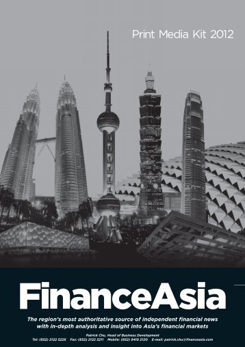 FinanceAsia Media Kit 2012 - Global Competitiveness Forum