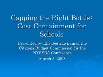 Capping the Right Bottle - New York State School Boards Association