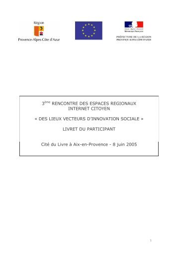 Le livret du participant - Émergences Numériques - Région ...