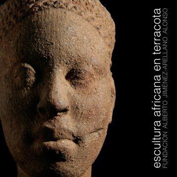 Folleto exposición escultura africana en terracota