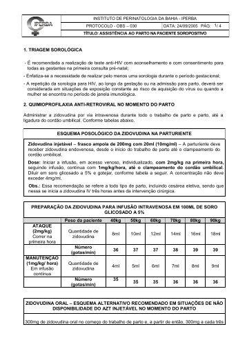 Protocolo-OBS-030-Assistencia ao Parto na Paciente Soropositiva