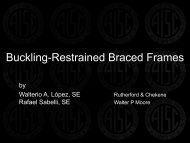 Buckling Restrained Braced Frames - SEAoT