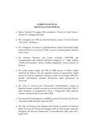 Curriculum Vitae - Provincia di Treviso