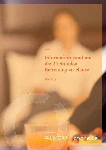 Information rund um die 24 Stunden Betreuung zu Hause - Vorarlberg