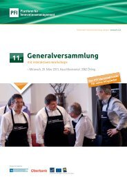 Generalversammlung - PFI Plattform für Innovationsmanagement