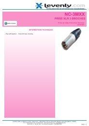 Fiche produit NEUTRIK - NC-3MXX, PRISE XLR 3 ... - Levenly