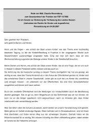 Rede im Hessischen Landtag zur Aufnahme der Rechte für Kinder ...