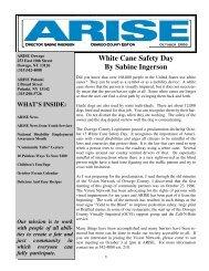 White Cane Safety Day By Sabine Ingerson - Arise