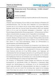 Mykotoxine in der Tierernährung - Deutsche Vilomix Tierernährung ...
