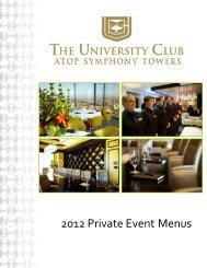 2012 Private Event Menus - ClubCorp