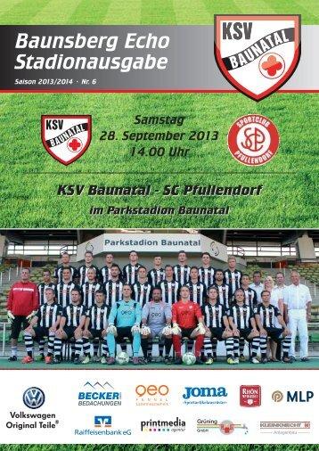 """""""Baunsberg Echo"""" Ausgabe 6 vom 28.9.2013 - KSV Baunatal"""
