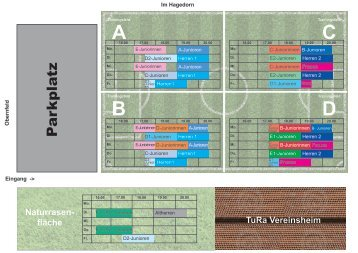 Trainingszeiten Jugendabteilung Saison 2013/2014