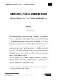 Strategic Asset Management - Tertiary Education Facilities ...