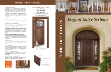 Fiberglass Brouchure - Target Custom Windows & Doors