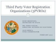 Third Party Voter Registration Organizations - Florida Division of ...