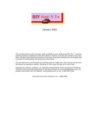 January 2002 - Palo Alto Software