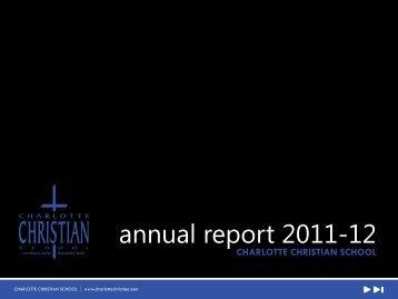 annual report 2011-12 - Charlotte Christian School
