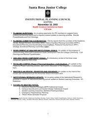 11-10-03 Agenda - Santa Rosa Junior College