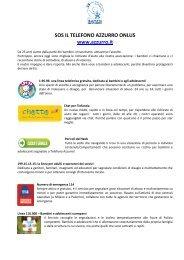 SOS Il Telefono Azzurro Onlus - Centro Servizi per il Volontariato ...