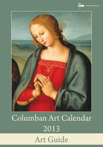 2013 Columban Calendar - Art Guide - St Columbans Mission Society