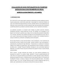 evaluación de ocho portainjertos en thompson ... - Platina - INIA