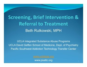Screening - UCLA Integrated Substance Abuse Programs