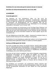 Richtlinien für eine Schulordnung für deutsche Schulen im Ausland ...