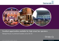 Excellent opportunities available for high street bar operators