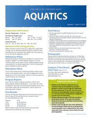 AQUATICS - YMCAs