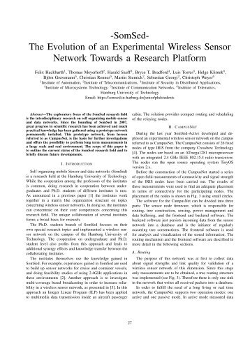 The Evolution of an Experimental Wireless Sensor Network Towards ...