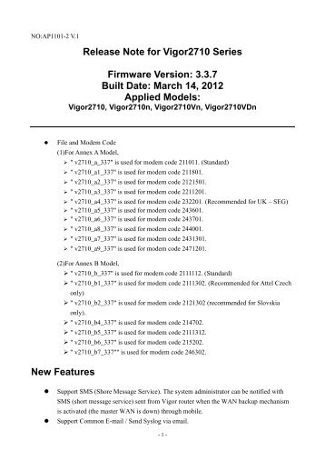 DrayTek Vigor2830n (Annex B 246302) Router Drivers for Windows 10