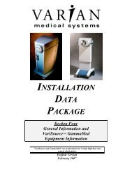 INSTALLATION DATA PACKAGE Section Four General ... - Varian
