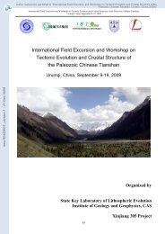 International Field Excursion and Workshop on Tectonic Evolution ...