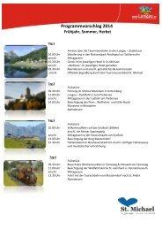 Programmvorschlag 2014 Frühjahr, Sommer, Herbst - St. Michael