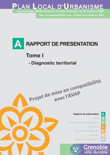 A. Rapport de présentation Tome - Grenoble